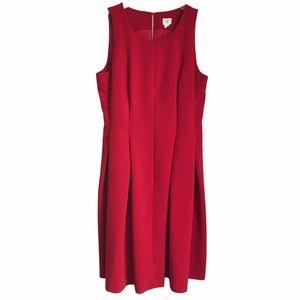 Ann Taylor Loft Pleated Fit & Flare Sheath Dress 6